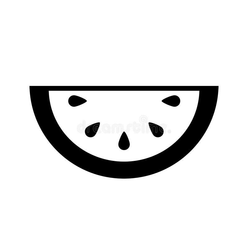 Icono de la fruta fresca del melón ilustración del vector