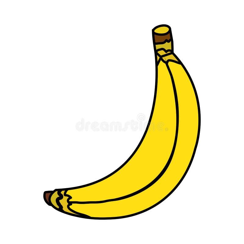 Icono de la fruta fresca del plátano libre illustration