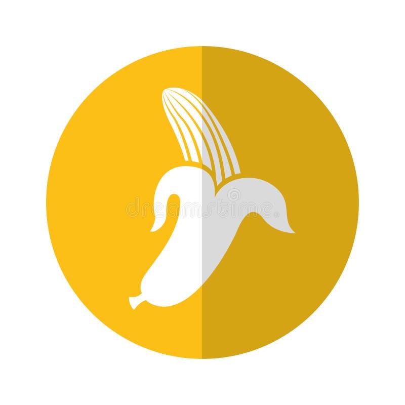 Icono de la fruta fresca del plátano ilustración del vector