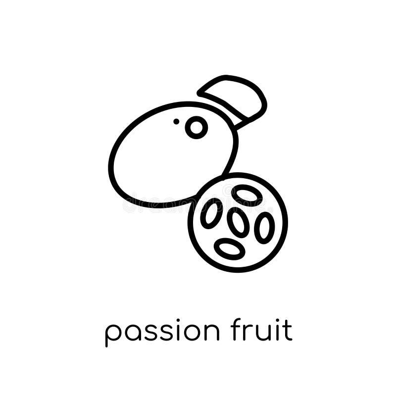 Icono de la fruta de la pasión de la colección de la fruta y verdura libre illustration