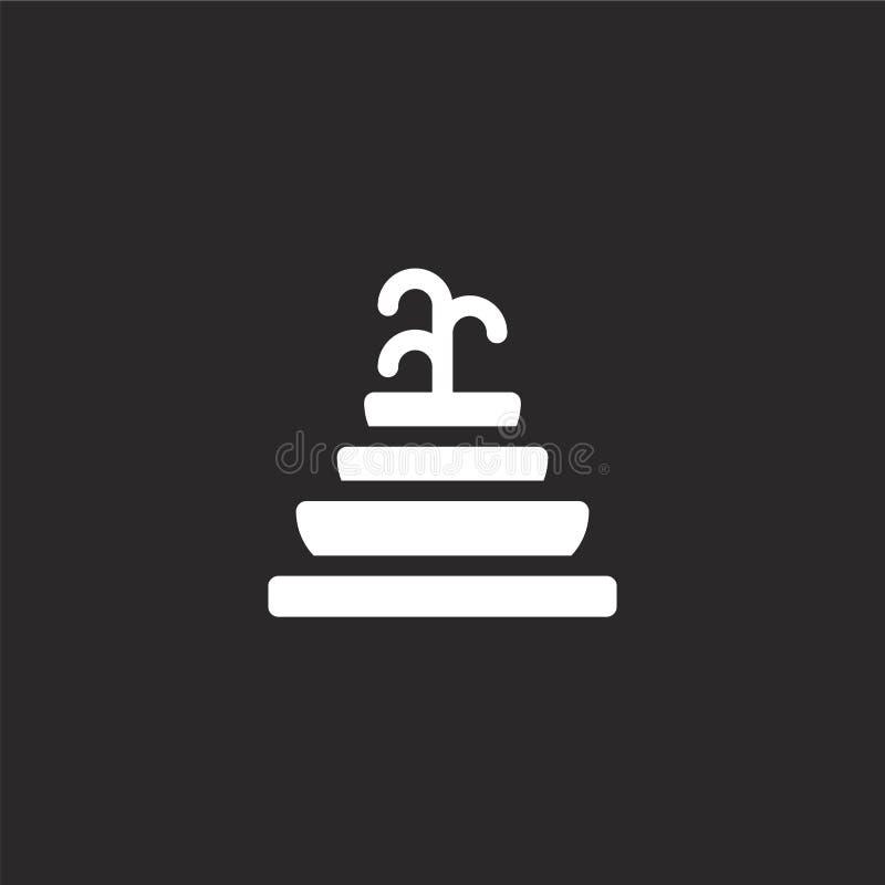 Icono de la fuente Icono llenado de la fuente para el diseño y el móvil, desarrollo de la página web del app icono de la fuente d stock de ilustración