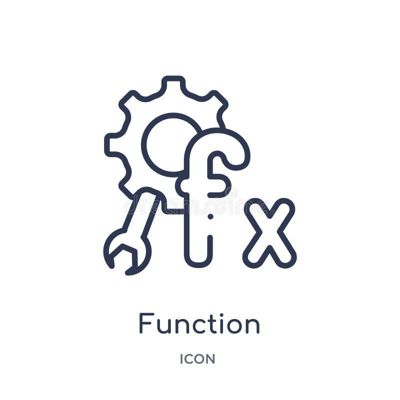 Icono de la función linear de la economía de Cryptocurrency y de la colección del esquema de las finanzas Línea fina vector de la ilustración del vector