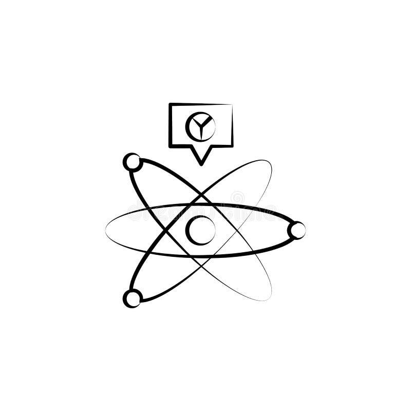 Icono de la fusión fría Elemento del icono enojado de la ciencia para los apps móviles del concepto y del web El icono dibujado m libre illustration
