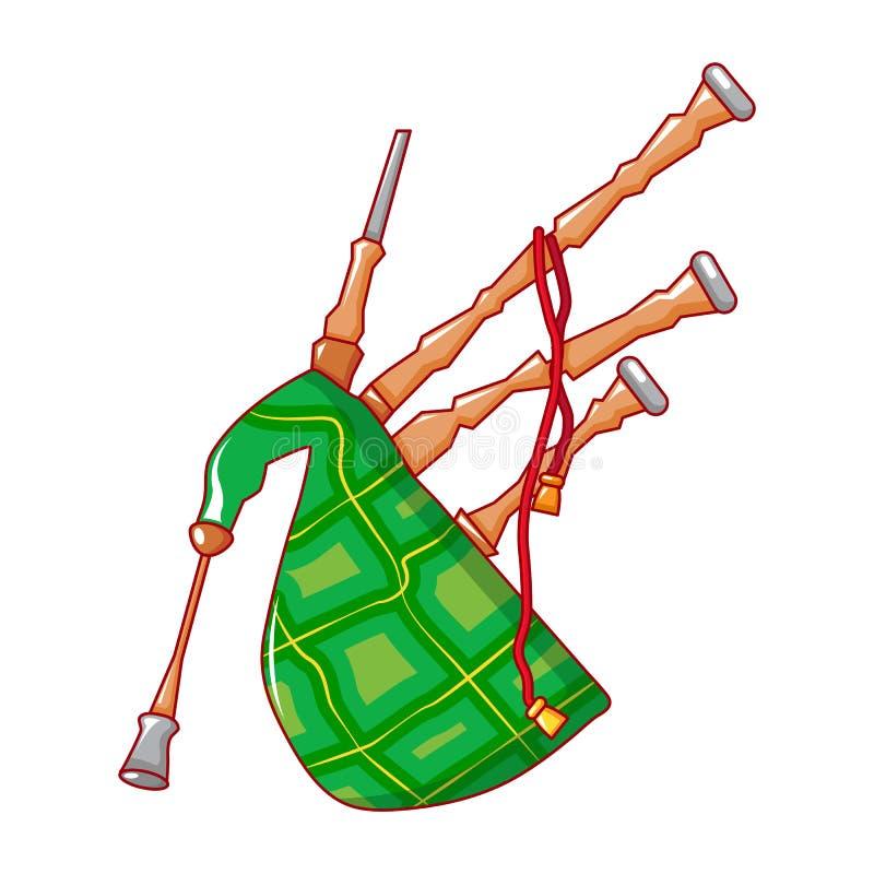 Icono de la gaita de Scootish, estilo de la historieta stock de ilustración