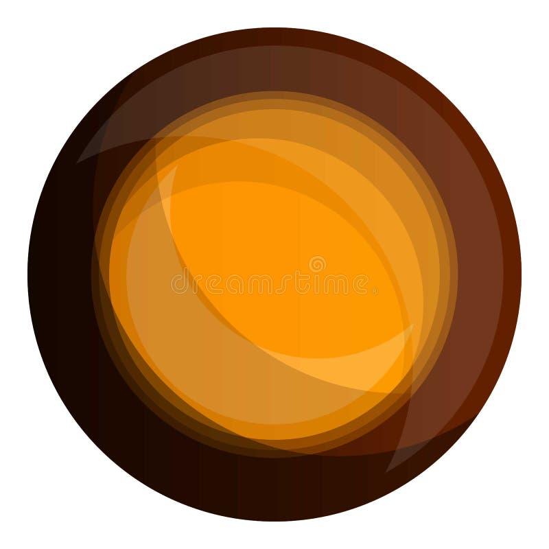 Icono de la galleta del choco del bocado, estilo de la historieta libre illustration