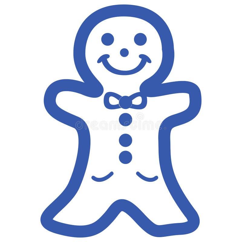 Icono de la galleta de la Navidad ilustración del vector