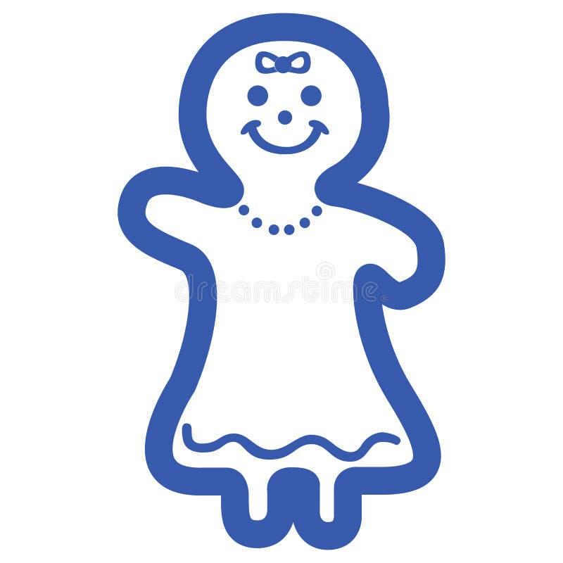 Icono de la galleta de la Navidad libre illustration