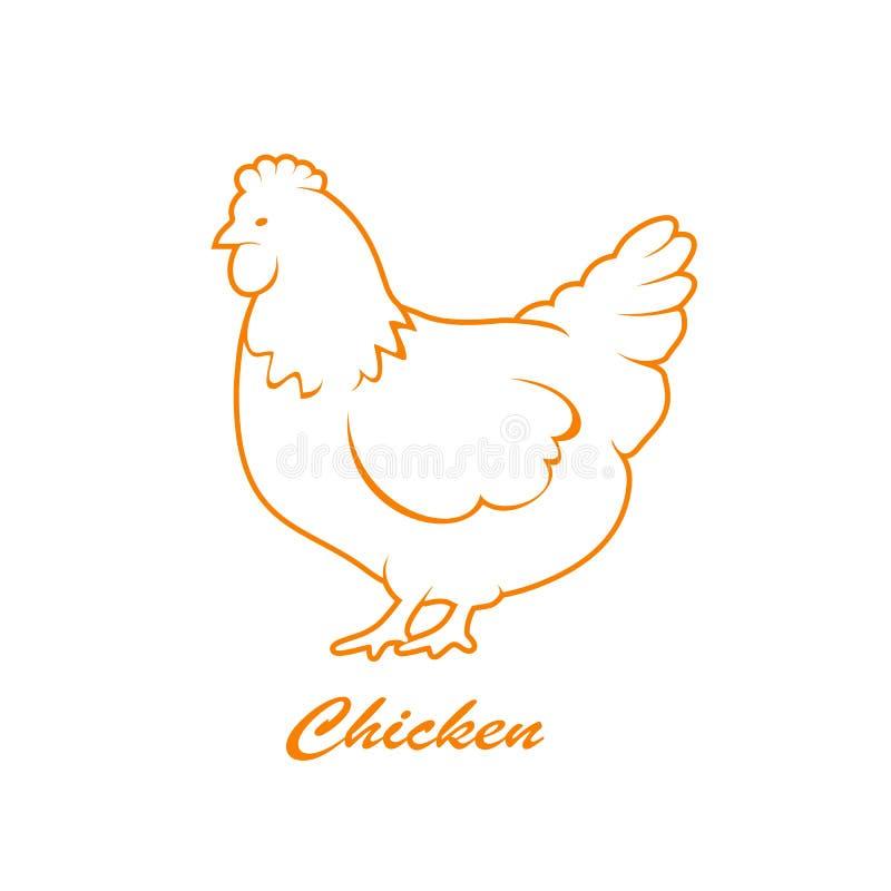 Icono de la gallina ilustración del vector