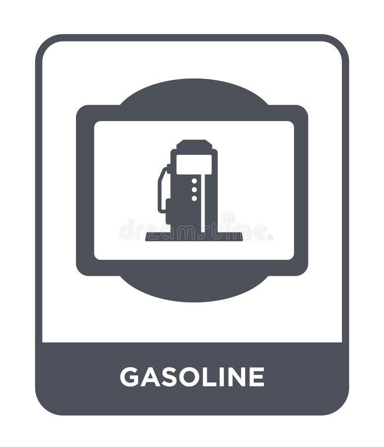 icono de la gasolina en estilo de moda del diseño icono de la gasolina aislado en el fondo blanco plano simple y moderno del icon stock de ilustración