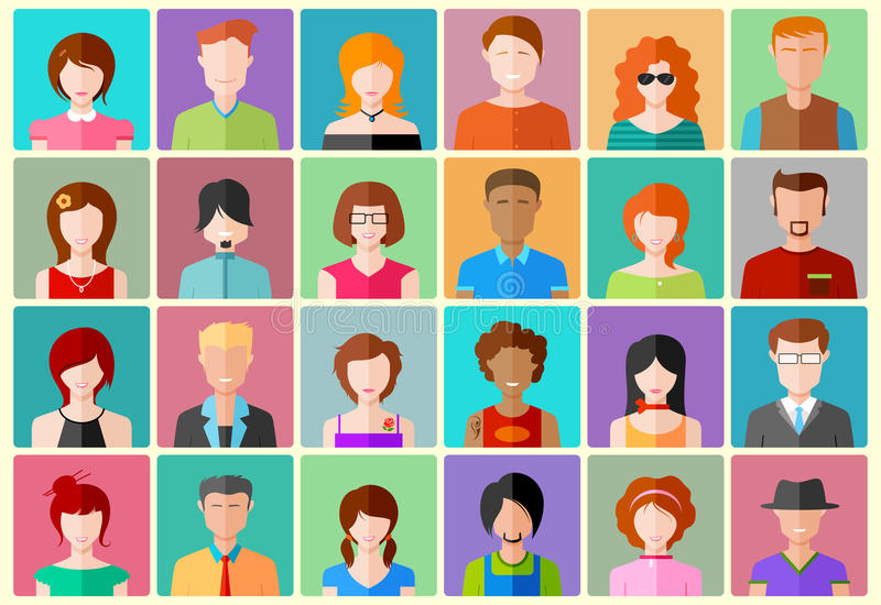 Icono de la gente ilustración del vector