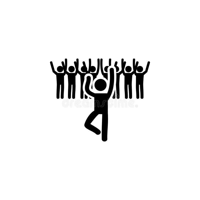 icono de la gente del baile Elemento del icono del partido para los apps móviles del concepto y del web El icono detallado de la  libre illustration