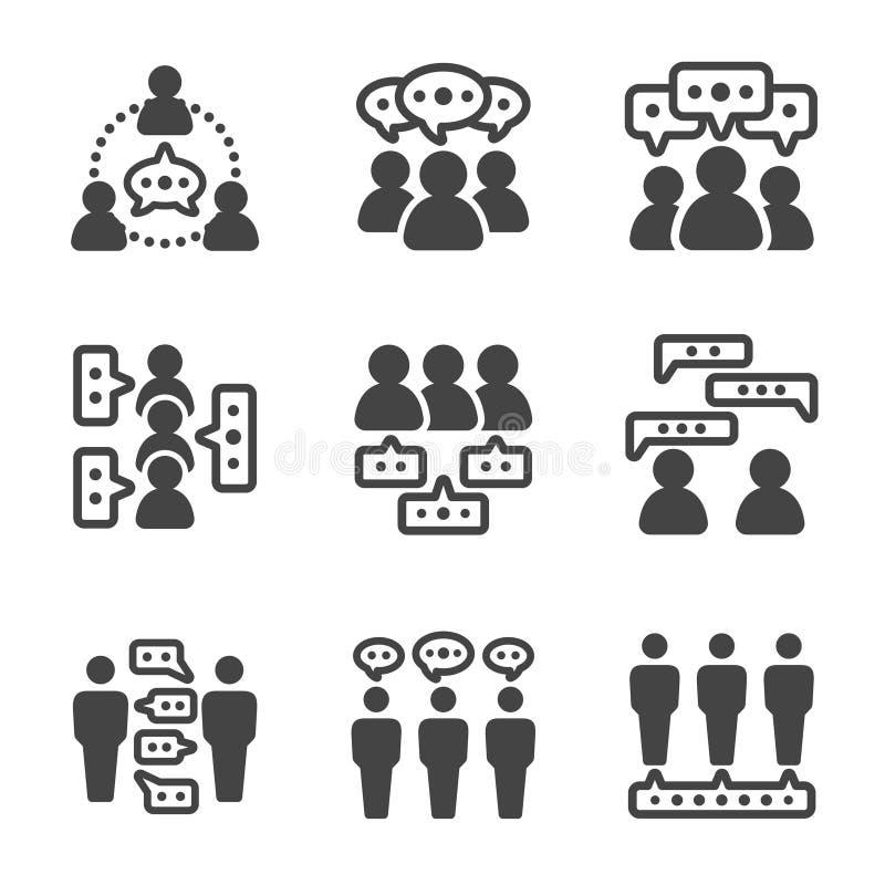 Icono de la gente del diálogo libre illustration