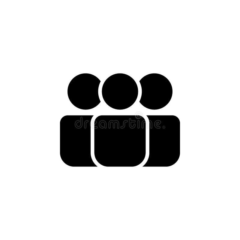 Icono de la gente Elemento del icono del web para los apps móviles del concepto y del web El icono aislado de la gente se puede u libre illustration
