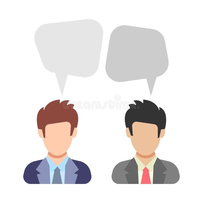 Icono de la gente en estilo plano ilustración del vector