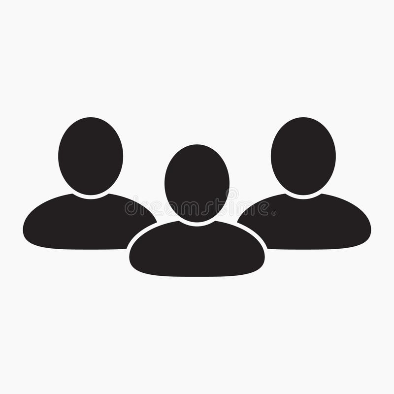 Icono de la gente, icono de grupo libre illustration