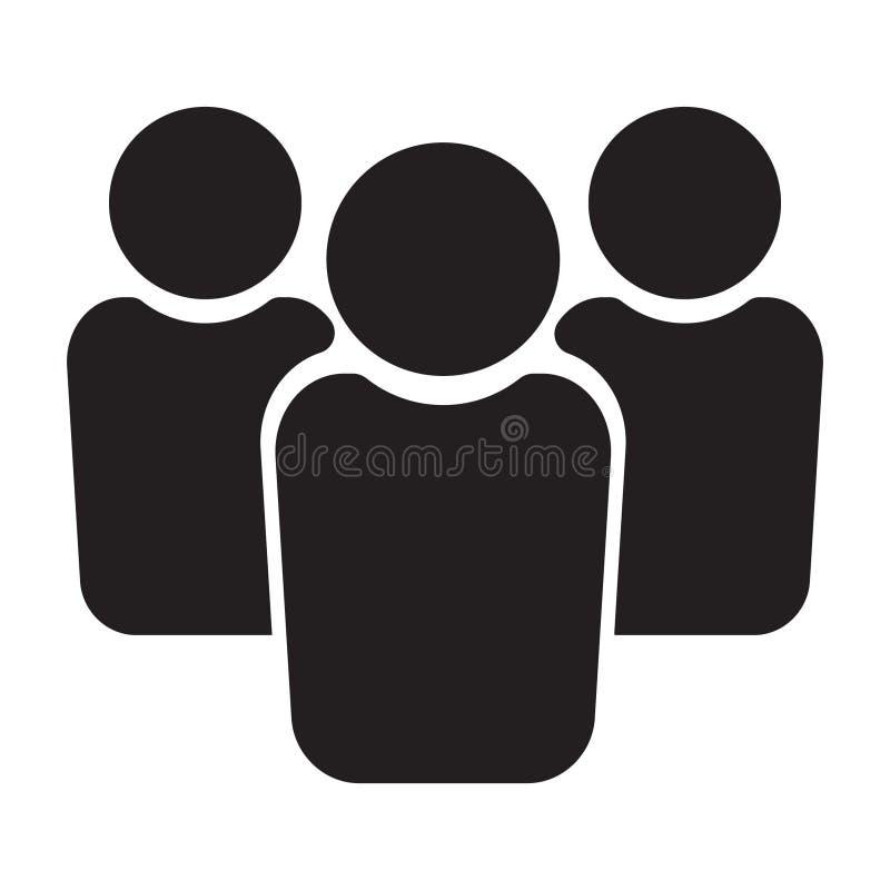 Icono de la gente, icono de grupo, icono del equipo stock de ilustración