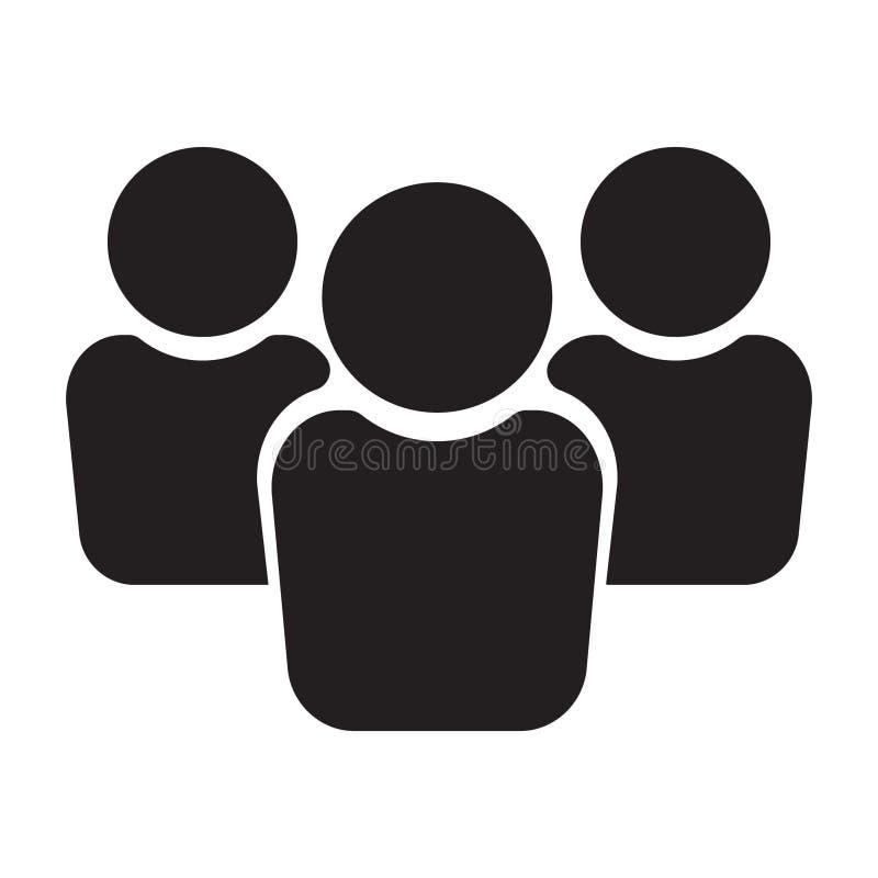 Icono de la gente, icono de grupo, icono del equipo ilustración del vector