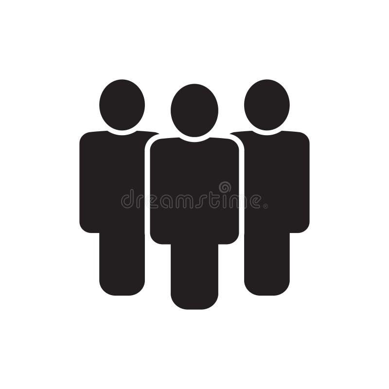 Icono de la gente, icono de grupo, icono del equipo libre illustration