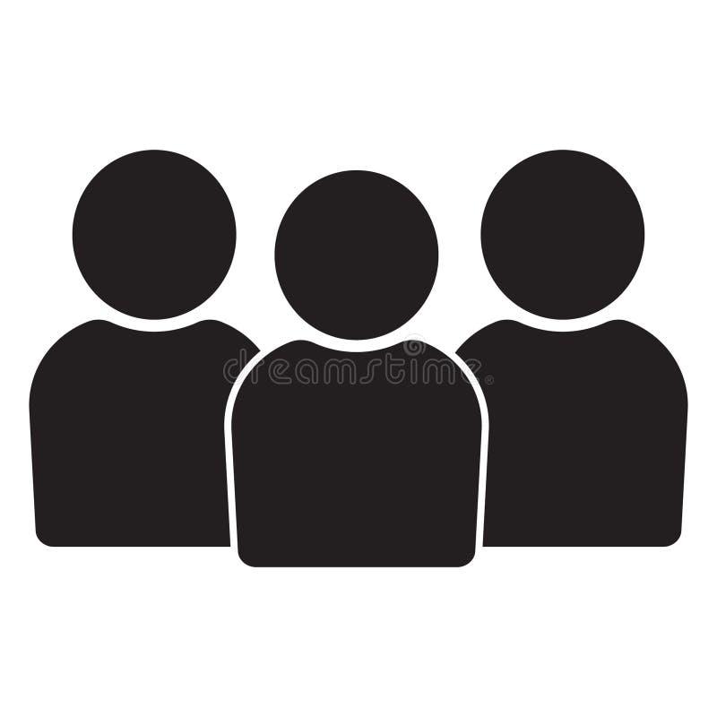 Icono de la gente, icono de grupo Icono en estilo plano, icono de la gente de la gente para el diseño web ilustración del vector
