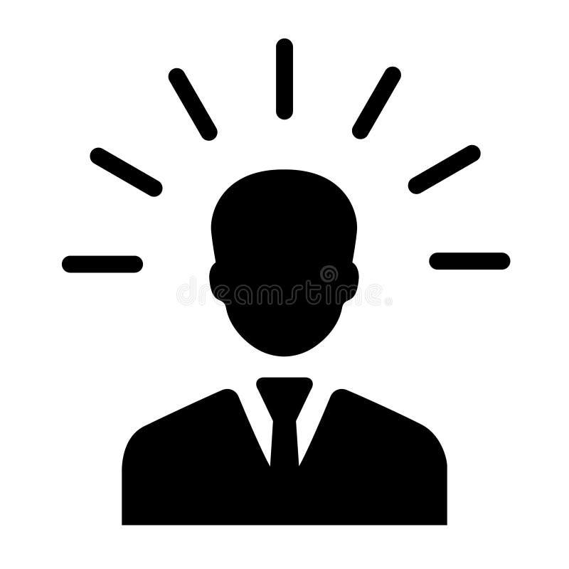 Icono de la gente de la mente en estilo plano El ejemplo humano del vector de la frustraci?n en blanco aisl? el fondo Concepto de libre illustration