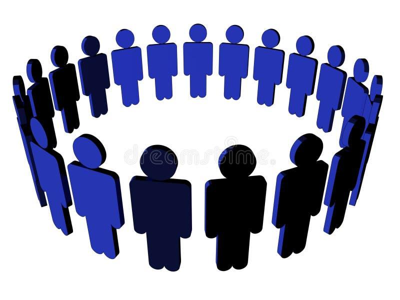 Icono de la gente - (Multi-ángulo imágenes de archivo libres de regalías
