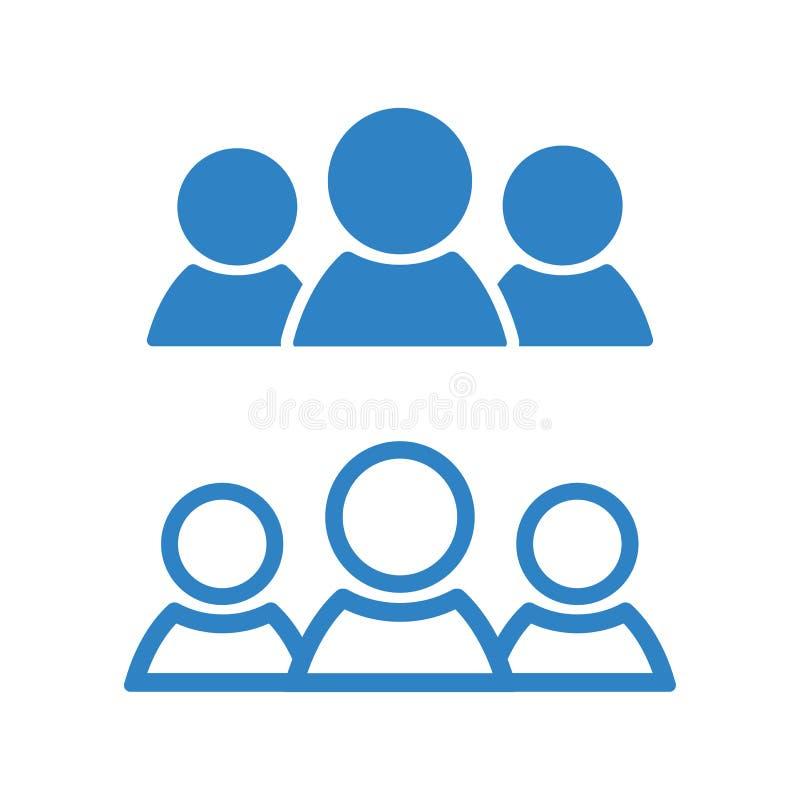 Icono de la gente Silueta azul Ilustración del vector stock de ilustración