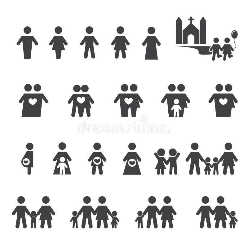Icono de la gente y de la familia ilustración del vector