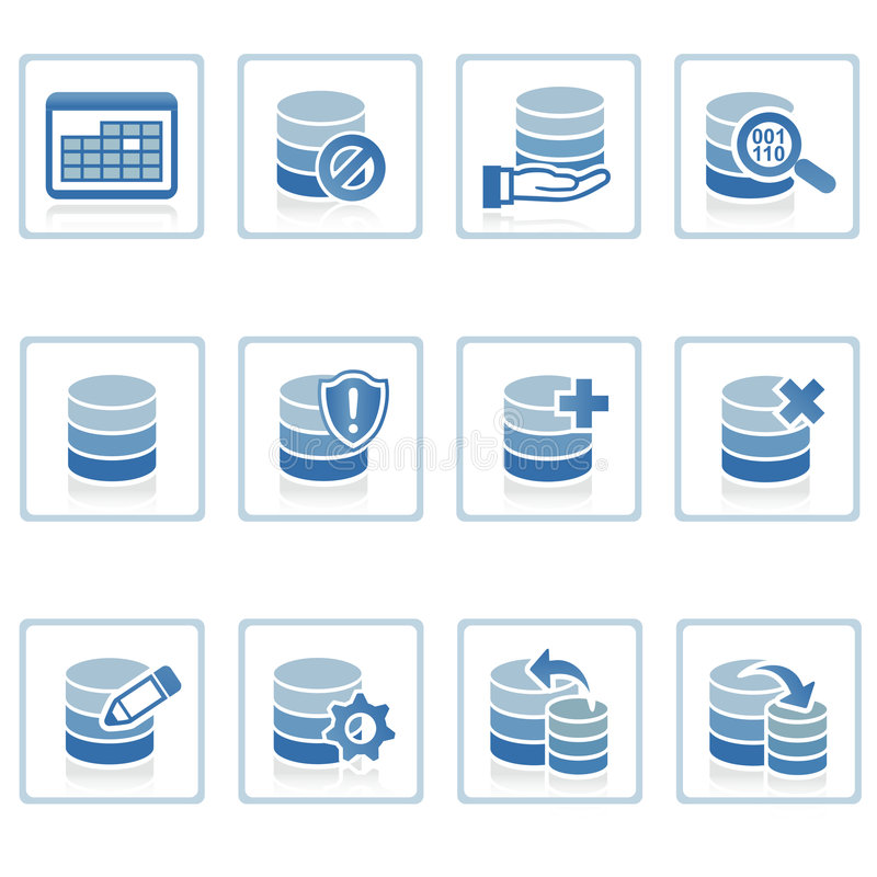 Icono de la gerencia de base de datos libre illustration