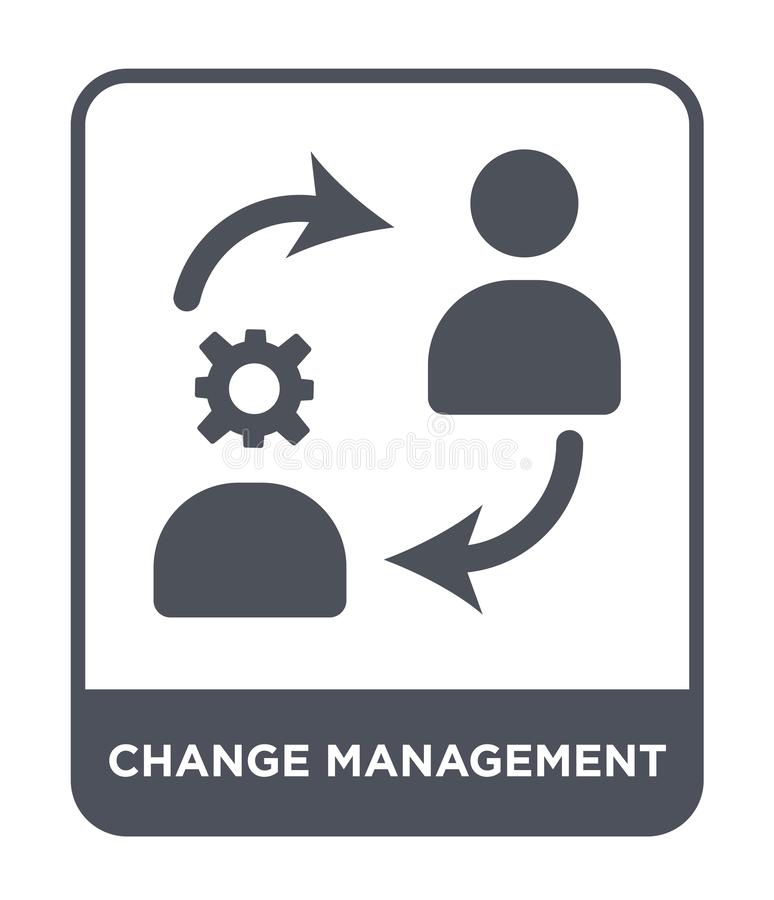 icono de la gestión del cambio en estilo de moda del diseño icono de la gestión del cambio aislado en el fondo blanco icono del v libre illustration