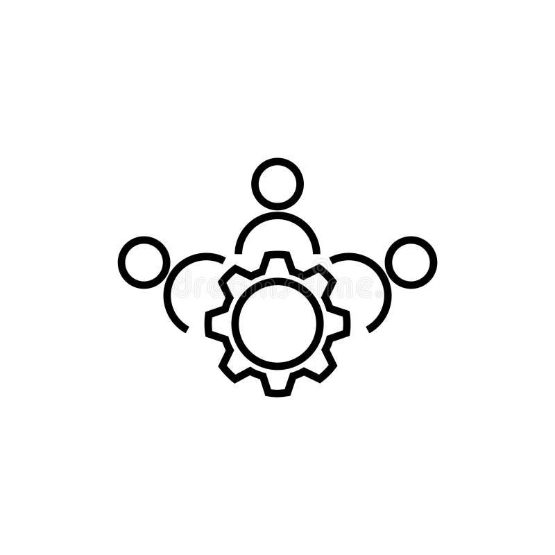 Icono de la gesti?n en un fondo blanco stock de ilustración