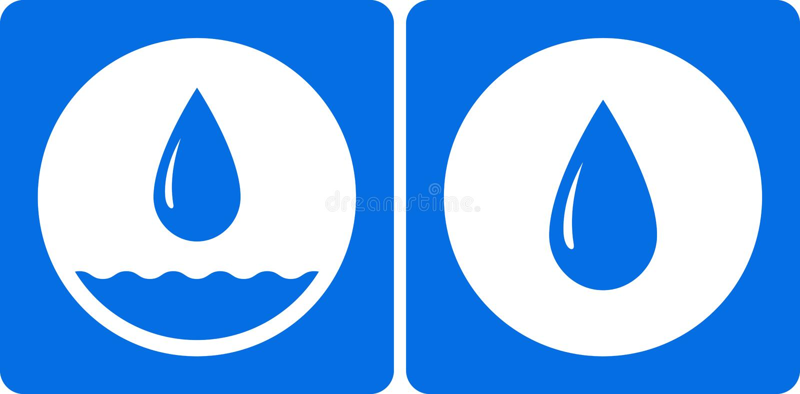 Icono de la gotita de agua dos libre illustration