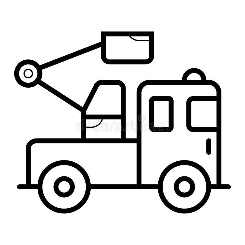 icono de la grúa del camión libre illustration
