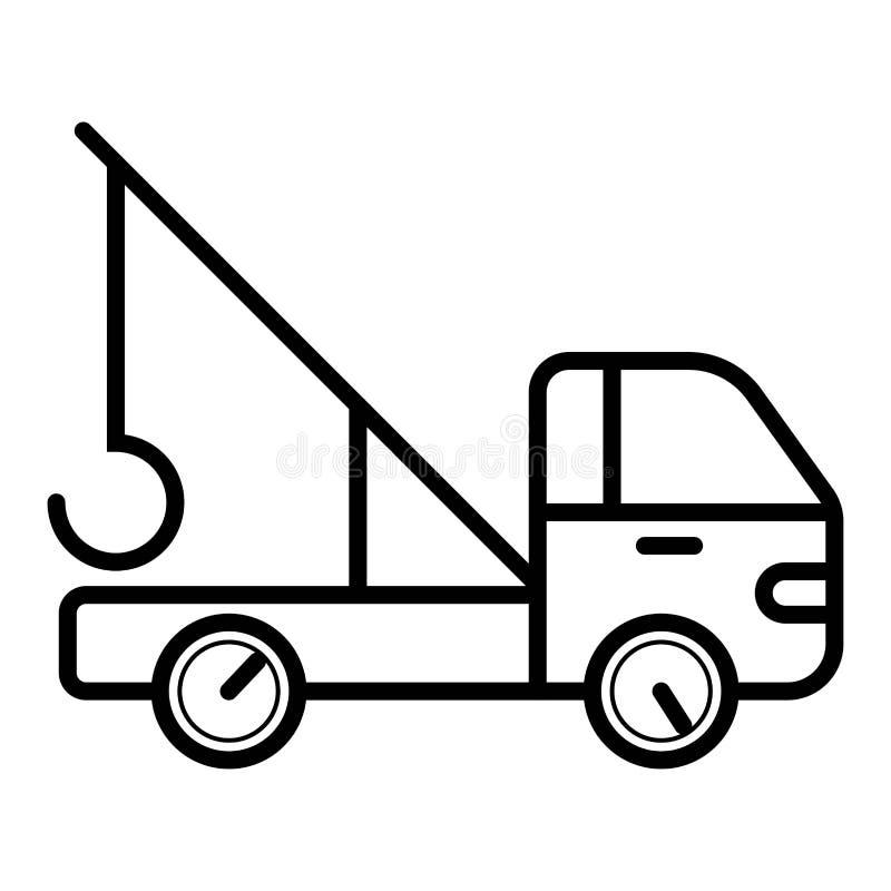 icono de la grúa del camión ilustración del vector