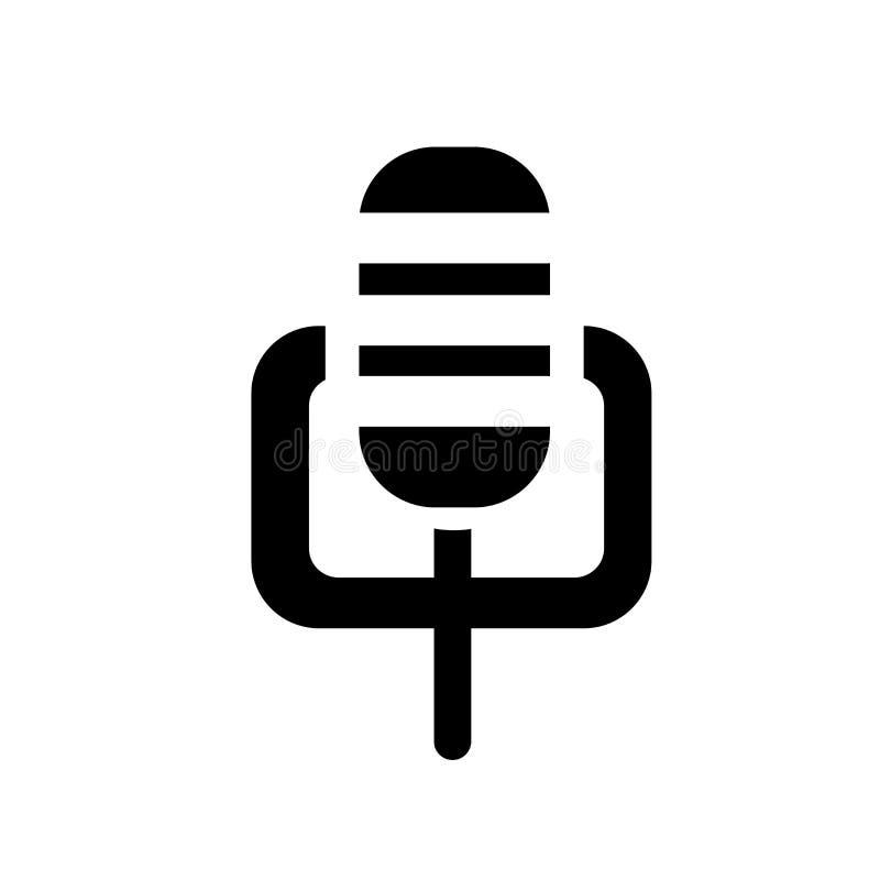 Icono de la grabación de la voz Concepto de moda del logotipo de la grabación de la voz en whi stock de ilustración