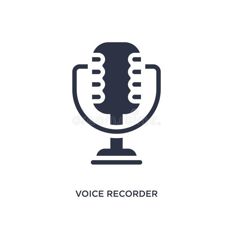 icono de la grabadora de voz en el fondo blanco Ejemplo simple del elemento del concepto de la interfaz de usuario stock de ilustración