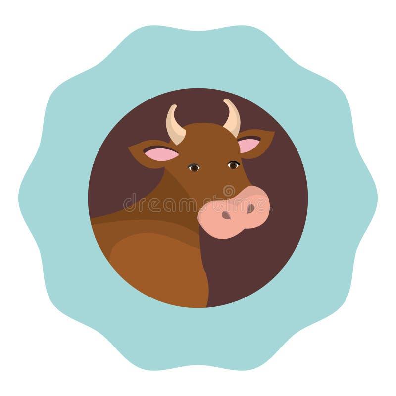 Icono de la granja de la vaca libre illustration