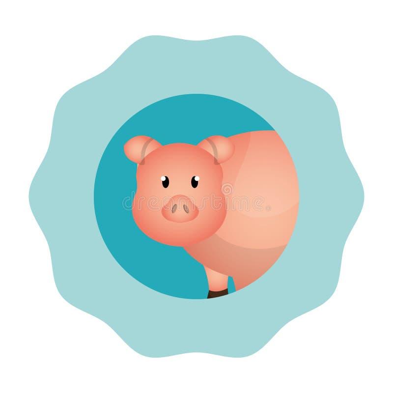icono de la granja del cerdo libre illustration