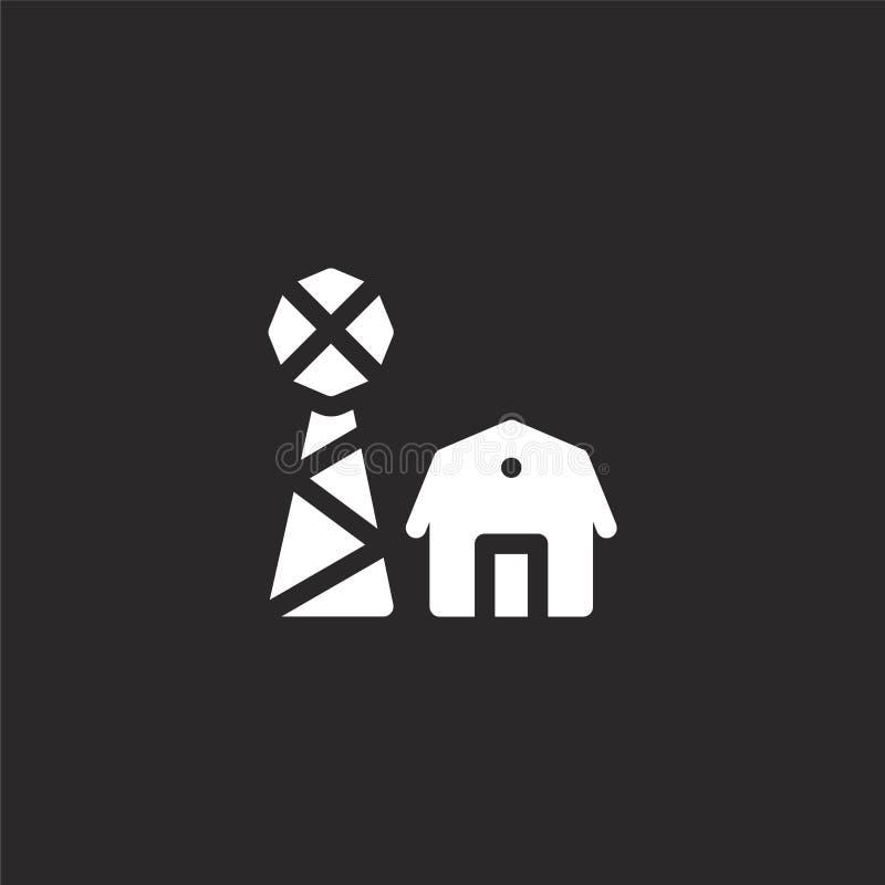 Icono de la granja Icono llenado de la granja para el diseño y el móvil, desarrollo de la página web del app icono de la granja d ilustración del vector