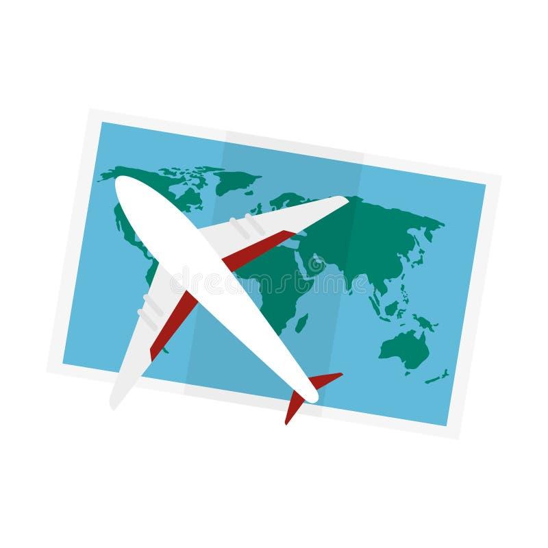 icono de la guía de papel del mapa ilustración del vector