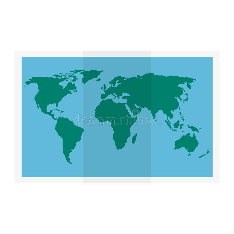 icono de la guía de papel del mapa stock de ilustración