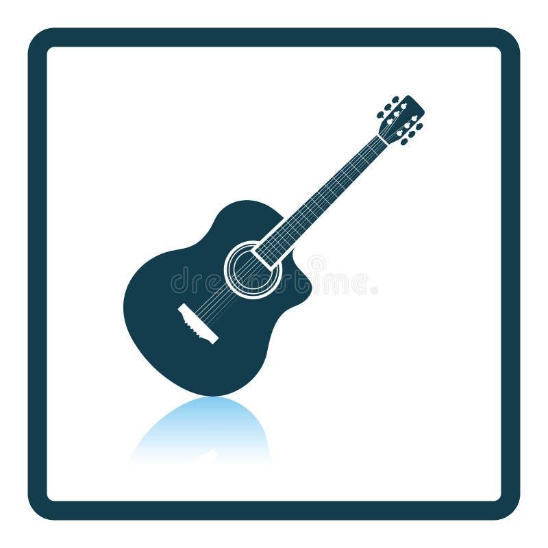 Icono de la guitarra acústica ilustración del vector