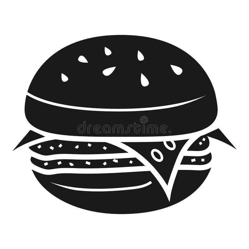 Icono de la hamburguesa de la cebolla, estilo simple ilustración del vector