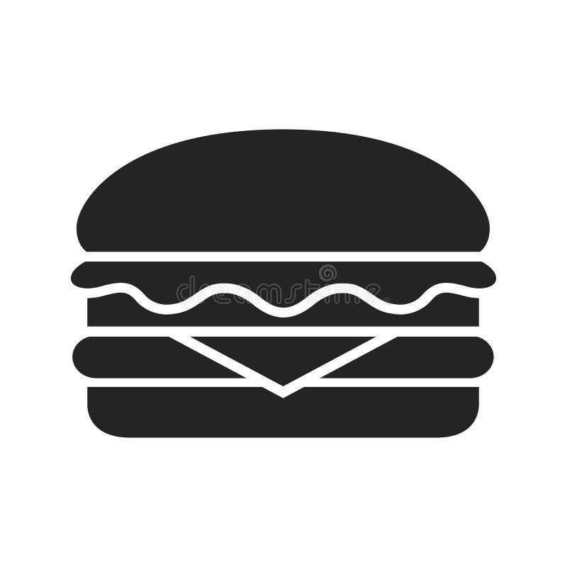 Icono de la hamburguesa - vector común stock de ilustración