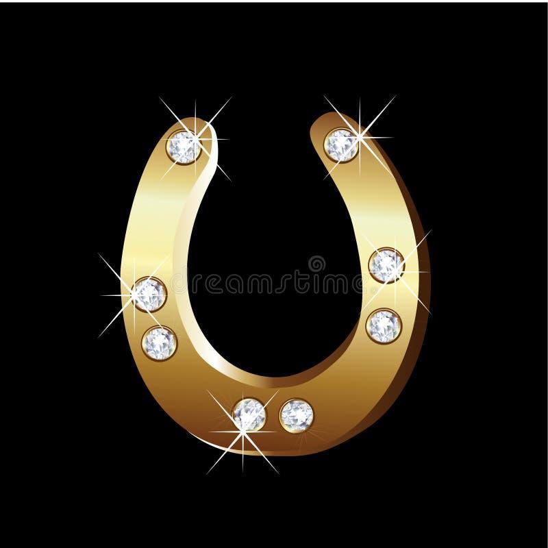 Icono de la herradura del oro libre illustration