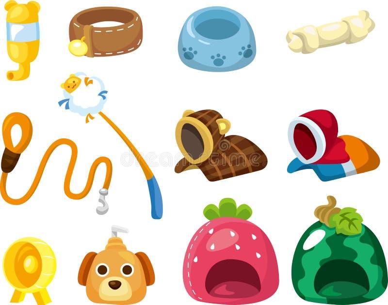 Icono de la herramienta del animal doméstico de la historieta stock de ilustración