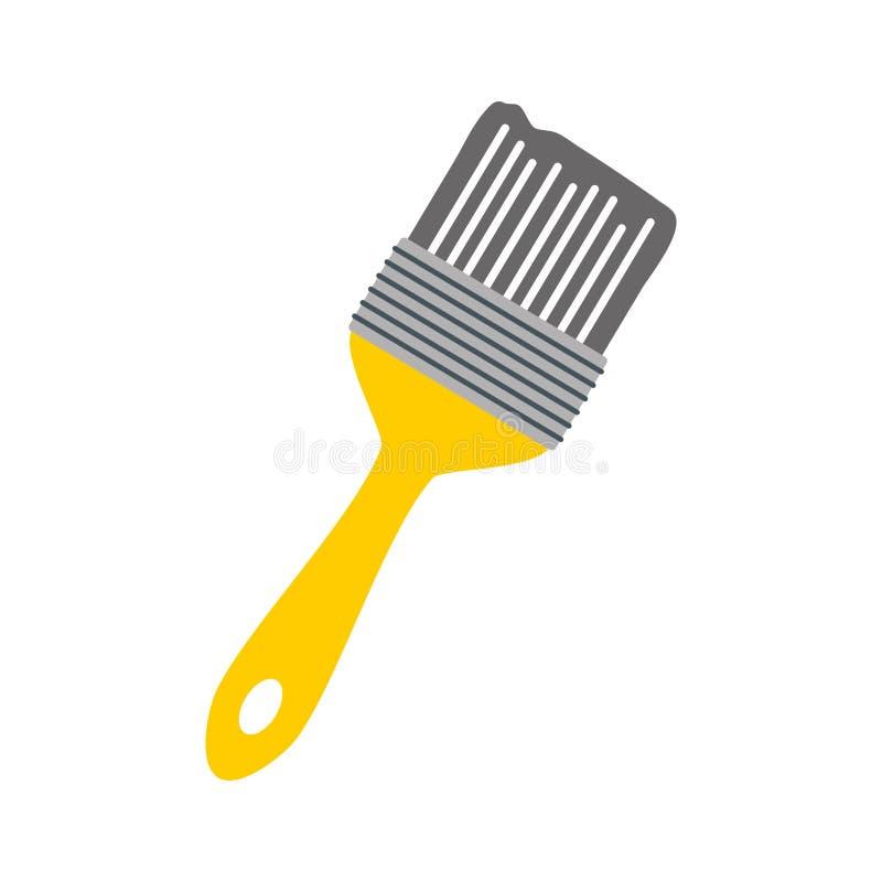 Icono de la herramienta del cepillo ilustración del vector