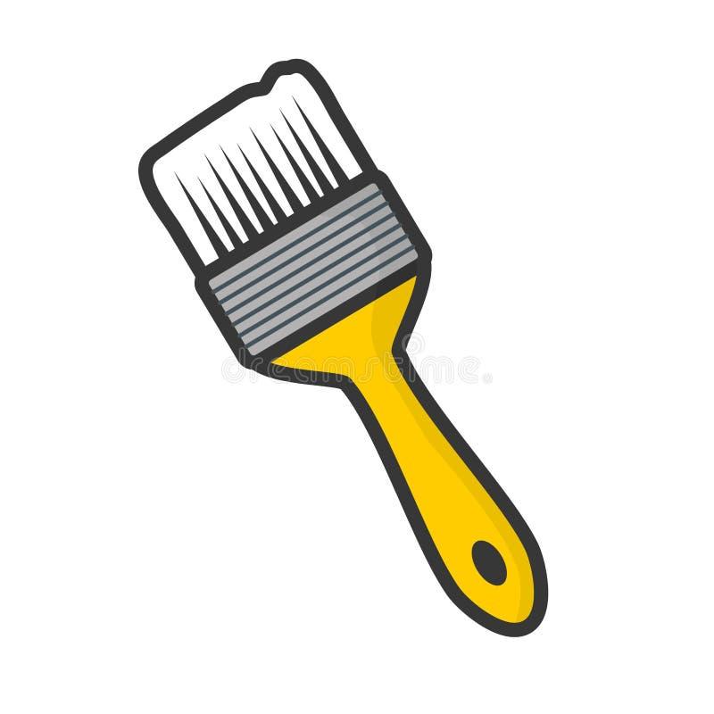 Icono de la herramienta del cepillo libre illustration