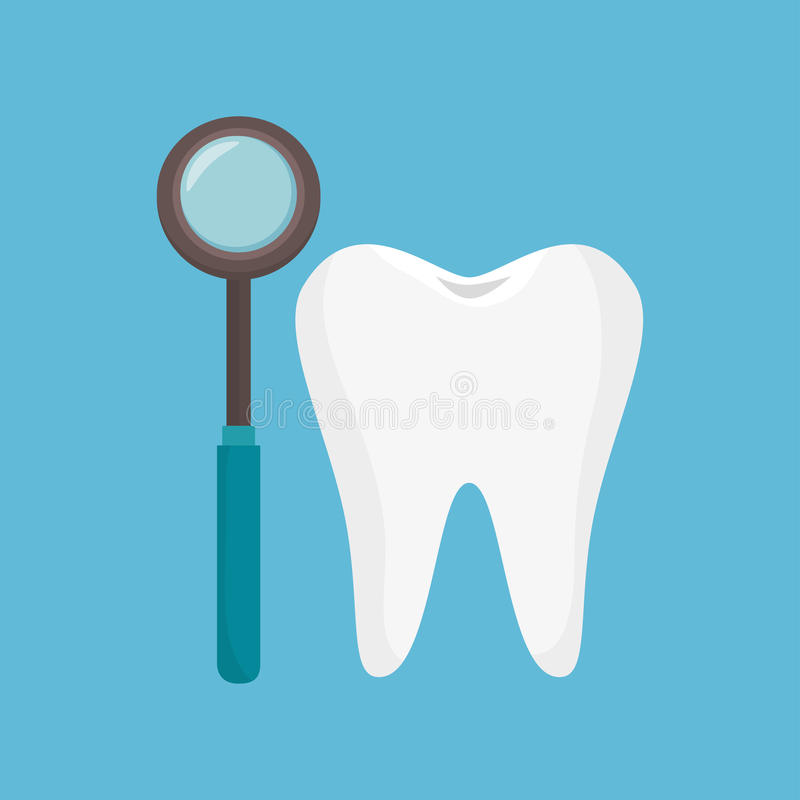 Icono de la herramienta del diente de la odontología ilustración del vector