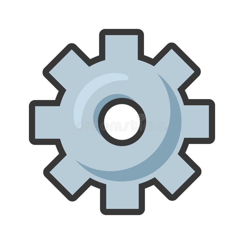 Icono de la herramienta del engranaje ilustración del vector