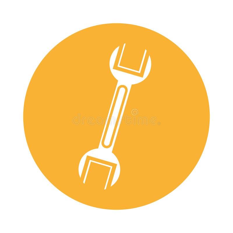 Icono de la herramienta del mecánico de la llave libre illustration